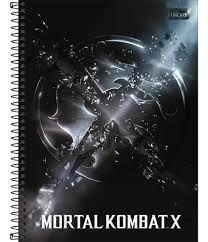 Caderno Tilibra 10X1 Mortal Kombat X Emblema 160 folhas