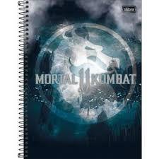 Caderno Tilibra 10X1 Mortal Kombat Emblema160 folha