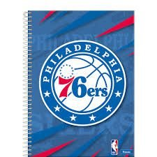 Caderno Foroni 10X1 NBA Philadelphia 76ers 200 folhas