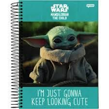 Caderno Jandaia 15X1 Baby Yoda Im Just Gonna Keep 240 folhas