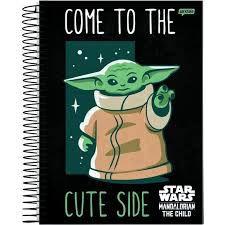 Caderno Jandaia 15X1 Baby Yoda Come To The Cute 240 folhas