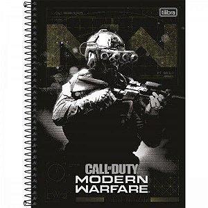 Caderno Tilibra 10X1 Call Of Duty Soldado160 folhas