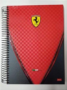 Caderno Foroni 10X1 Ferrari Escudo Vermelho 200 folhas