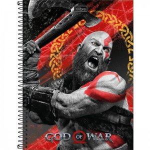Caderno Tilibra 10X1 God Of War Kratos 160fls