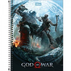 Caderno Tilibra 10X1 God Of War Kratos X Thamur 160fls