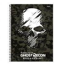 Caderno Foroni 10X1 Ghost Recon Caveira 200 folhas