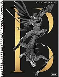 Caderno Foroni 10X1 Batman 80Anos B em Dourado 200 folhas