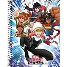Caderno Tilibra 10X1 Marvel Rising Heroínas 160fls