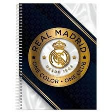 Caderno Foroni 10X1 Real Madri Coroa Dourada 200 folhas