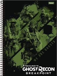 Caderno Foroni 10X1 Ghost Recon We Are Ghosts 200 folhas
