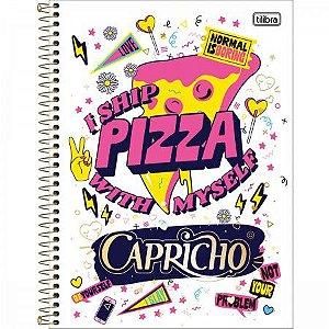 Caderno Tilibra 10x1 Capricho I Ship Pizza 200 folhas