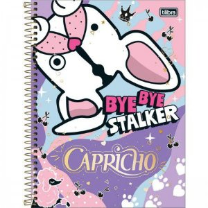 Caderno Tilibra 10x1 Capricho Bye Bye Stalker 200 folhas