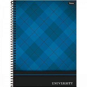 Caderno Foroni 10X1 University Azul 160 folhas