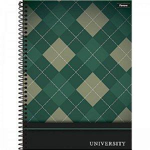Caderno Foroni 10X1 University Verde 160 folhas