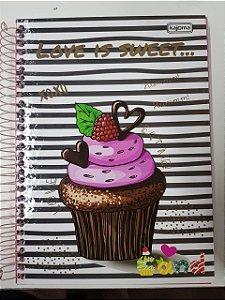 Caderno Kajoma 10X1 Cand Love is Sweet 200 folhas