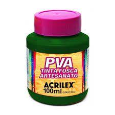 Tinta PVA Acrilex Fosca Verde Musgo 100ML