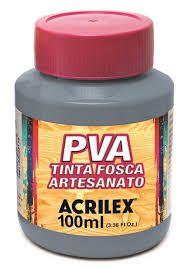 Tinta PVA Acrilex Fosca Cinza Lunar 100ML