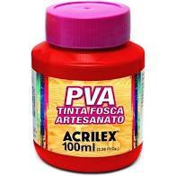 Tinta Pva Acrilex Fosca Vermelho Vivo 100Ml