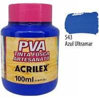 Tinta Pva Acrilex Fosca Azul Ultramar 100Ml