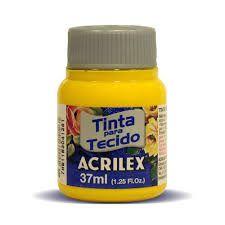 Tinta de Tecido Acrilex Amarelo Ouro 37Ml