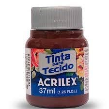 Tinta de Tecido Acrilex Terra Queimada 37ML Acrilex