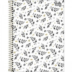 Caderno Tilibra 10x1 Bew Branco com Folhas Pretas 160fls