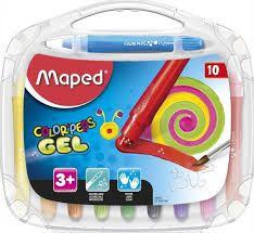 Giz De Cera Maped Color Peps Gel com 10 Unidades