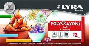 Giz Pastel Lyra Polycrayons Soft 12 Unidades
