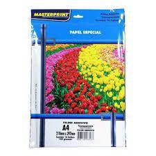 Glossy A4 150G Masterprint Adesivo 10 folhas