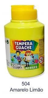 Guache 250Ml Acrilex Amarelo Limão