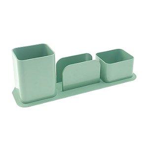 Porta Caneta Clips Lembrete Dello Verde
