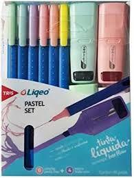Kit Caneta Tris 6 Canetas + 4Mini Marca Texto Pastel