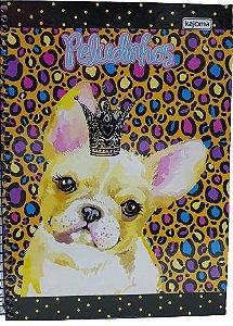 Caderno Kajoma 10X1 Peludinhos Cachorro com Coroa 200 folhas
