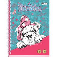Caderno Kajoma 10X1 Peludinhos Love Cachorro de Laço 200 folhas