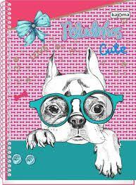 Caderno Kajoma 10X1 Peludinhos Cute Cachorro com Óculos 200 folhas