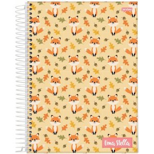 Caderno Jandaia 10x1 Stella Raposa 160 folhas