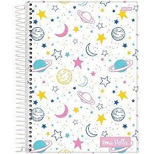 Caderno Jandaia 10x1 Stella Planeta 160 folhas