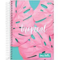 Caderno Jandaia 10x1 Stella Tropical 160 folhas