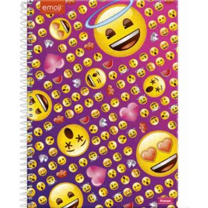 Caderno Foroni 10X1 Emoji com Auréola 200 folhas