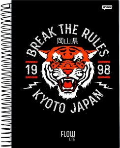 Caderno Jandaia 10x1 Flow Break The Rules 160 folhas