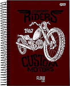 Caderno Jandaia 10x1 Flow Legendary Riders 160 folhas