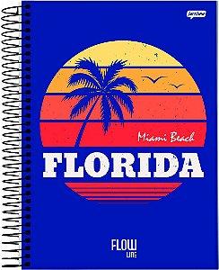 Caderno Jandaia 10x1 Flow Florida 160 folhas