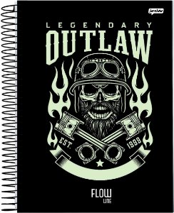Caderno Jandaia 10x1 Flow Legendary Outlaw 160 folhas