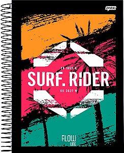 Caderno Jandaia 10x1 Flow Surf Rider 160 folhas