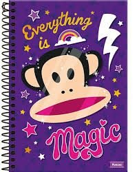 Caderno Foroni 10X1 Paul Frank Magic 200 folhas