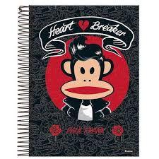 Caderno Foroni 10X1 Paul Frank Heart Breaker 200 folhas