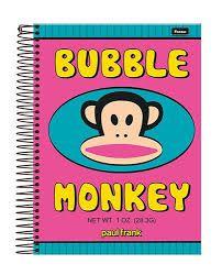 Caderno Foroni 10X1 Paul Frank Bubble Monkey 200 folhas