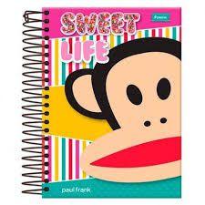Caderno Foroni 10X1 Paul Frank Sweet Life 200 folhas