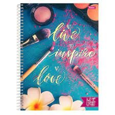 Caderno Foroni 10X1 Like It Live Inspire Love 200 folhas