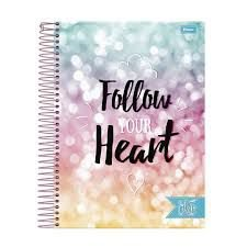 Caderno Foroni 10X1 Like It Follow Your Heart 200 folhas